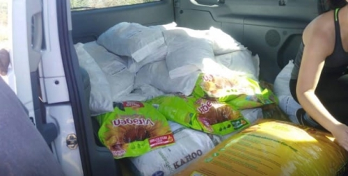 Car full with 408kg of dog food.30 Dec 2018