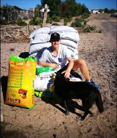 Sitting on 408kg of dog food.30 Dec 2018